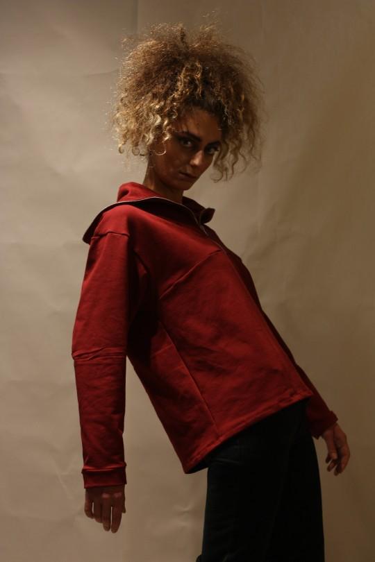 THE ZIPPER |RED  sweatshirt
